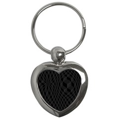 Black Pattern Dark Texture Background Key Chains (heart)