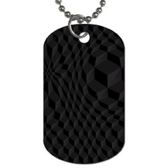 Black Pattern Dark Texture Background Dog Tag (Two Sides)