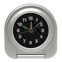 Black Pattern Dark Texture Background Travel Alarm Clocks