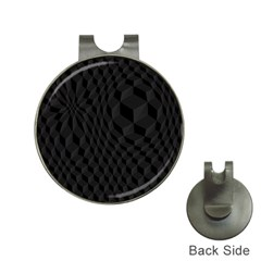 Black Pattern Dark Texture Background Hat Clips with Golf Markers