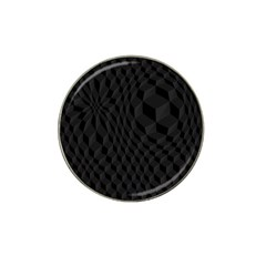 Black Pattern Dark Texture Background Hat Clip Ball Marker (4 Pack)