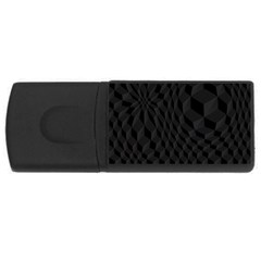 Black Pattern Dark Texture Background Usb Flash Drive Rectangular (4 Gb)