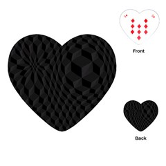 Black Pattern Dark Texture Background Playing Cards (Heart)