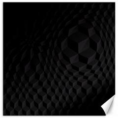 Black Pattern Dark Texture Background Canvas 16  X 16