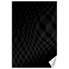 Black Pattern Dark Texture Background Canvas 20  x 30