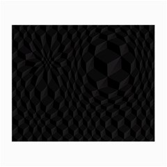 Black Pattern Dark Texture Background Small Glasses Cloth (2-Side)