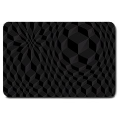 Black Pattern Dark Texture Background Large Doormat