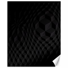 Black Pattern Dark Texture Background Canvas 11  x 14