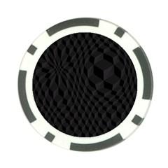 Black Pattern Dark Texture Background Poker Chip Card Guard