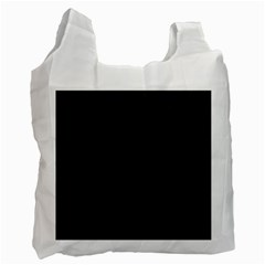 Black Pattern Dark Texture Background Recycle Bag (Two Side)