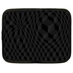 Black Pattern Dark Texture Background Netbook Case (XL)