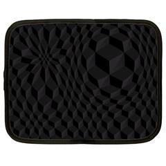 Black Pattern Dark Texture Background Netbook Case (XXL)
