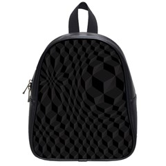 Black Pattern Dark Texture Background School Bags (Small)