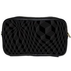 Black Pattern Dark Texture Background Toiletries Bags 2-Side