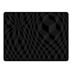 Black Pattern Dark Texture Background Fleece Blanket (Small)
