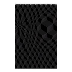 Black Pattern Dark Texture Background Shower Curtain 48  x 72  (Small)