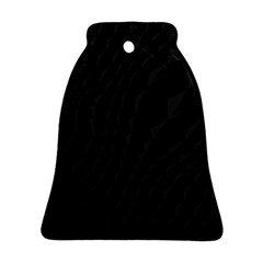 Black Pattern Dark Texture Background Bell Ornament (Two Sides)