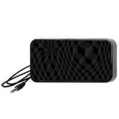 Black Pattern Dark Texture Background Portable Speaker (Black)