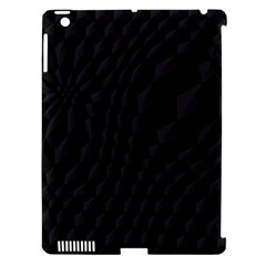 Black Pattern Dark Texture Background Apple iPad 3/4 Hardshell Case (Compatible with Smart Cover)