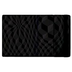 Black Pattern Dark Texture Background Apple iPad 3/4 Flip Case