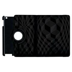 Black Pattern Dark Texture Background Apple Ipad 2 Flip 360 Case