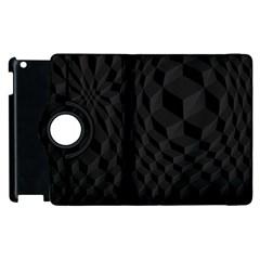 Black Pattern Dark Texture Background Apple Ipad 3/4 Flip 360 Case