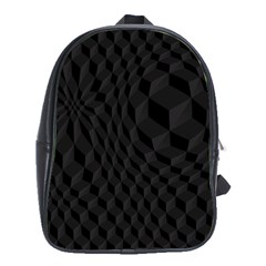 Black Pattern Dark Texture Background School Bags (xl)