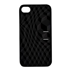 Black Pattern Dark Texture Background Apple iPhone 4/4S Hardshell Case with Stand
