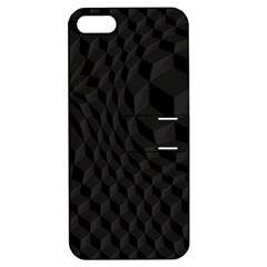 Black Pattern Dark Texture Background Apple Iphone 5 Hardshell Case With Stand