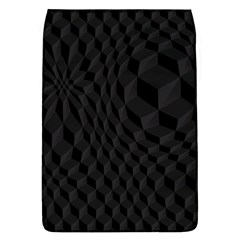 Black Pattern Dark Texture Background Flap Covers (l)