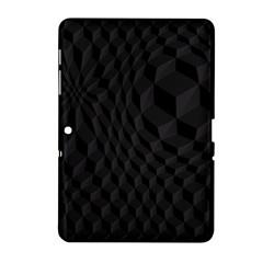 Black Pattern Dark Texture Background Samsung Galaxy Tab 2 (10.1 ) P5100 Hardshell Case