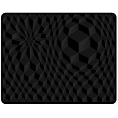 Black Pattern Dark Texture Background Double Sided Fleece Blanket (Medium)