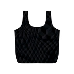 Black Pattern Dark Texture Background Full Print Recycle Bags (S)