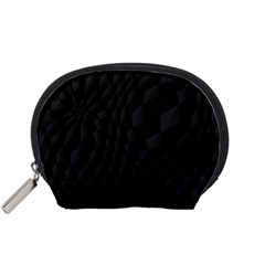 Black Pattern Dark Texture Background Accessory Pouches (small)