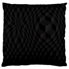 Black Pattern Dark Texture Background Large Flano Cushion Case (one Side)