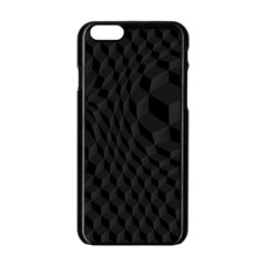 Black Pattern Dark Texture Background Apple Iphone 6/6s Black Enamel Case