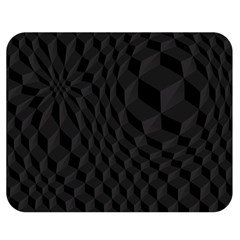 Black Pattern Dark Texture Background Double Sided Flano Blanket (Medium)