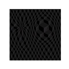 Black Pattern Dark Texture Background Small Satin Scarf (square)