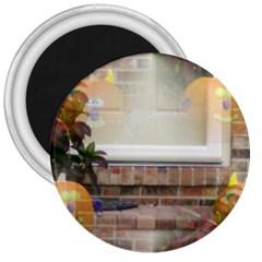 Ghostly Floating Pumpkins 3  Magnets