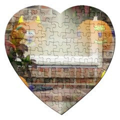 Ghostly Floating Pumpkins Jigsaw Puzzle (Heart)