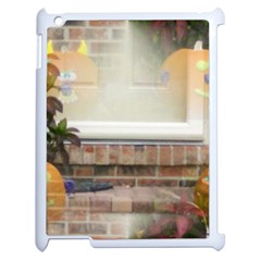 Ghostly Floating Pumpkins Apple iPad 2 Case (White)