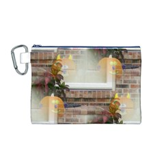 Ghostly Floating Pumpkins Canvas Cosmetic Bag (M)