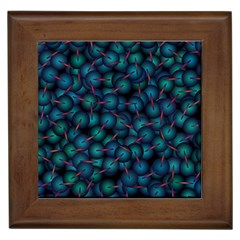 Background Abstract Textile Design Framed Tiles