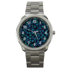 Background Abstract Textile Design Sport Metal Watch