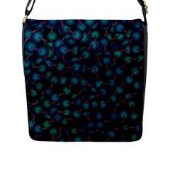 Background Abstract Textile Design Flap Messenger Bag (L)