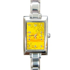 Texture Yellow Abstract Background Rectangle Italian Charm Watch