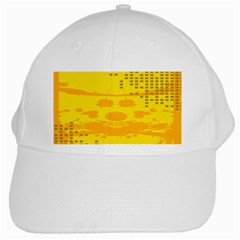 Texture Yellow Abstract Background White Cap