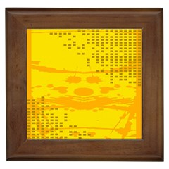 Texture Yellow Abstract Background Framed Tiles