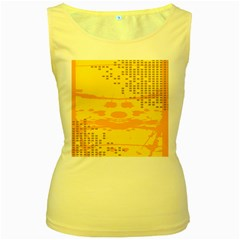Texture Yellow Abstract Background Women s Yellow Tank Top