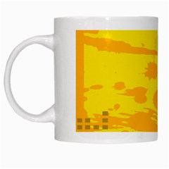 Texture Yellow Abstract Background White Mugs